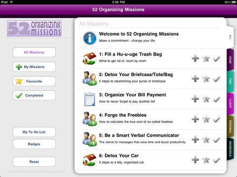 Organizing Missions